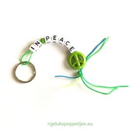 """""""PEACE"""" gelukspoppetjes sleutelhanger"""