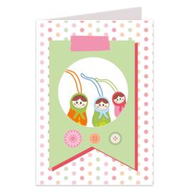 Gelukspoppetjes dubbele kaarten