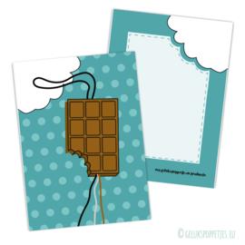 Geluks chocolade kaartje