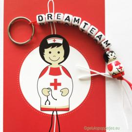 DREAMTEAM gelukspoppetje sleutelhanger
