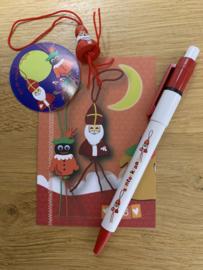 Sinterklaas gelukspoppetjes pen
