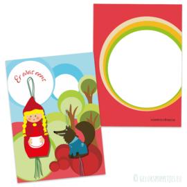 Sprookjes gelukskaartje roodkapje