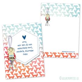#Mooimens gelukspoppetjes kaartje