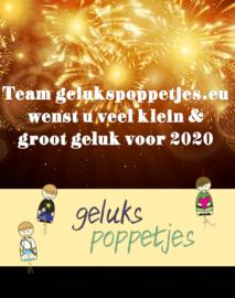 Team gelukspoppetjes.eu wenst iedereen een gelukkig 2020