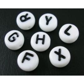 Witte ronde letterkralen