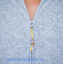 Zilver gelukspoppetje 16 mm
