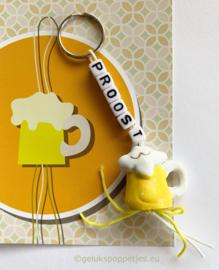 PROOST gelukspoppetjes sleutelhanger met bierpul