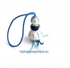 Delfts blauw geluksvrouwtje