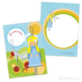 Assepoester gelukspoppetjes kaartje