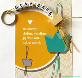 """Stay safe"" gelukspoppetjes giftset"