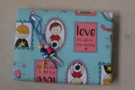 Gelukspoppetjes papier familie