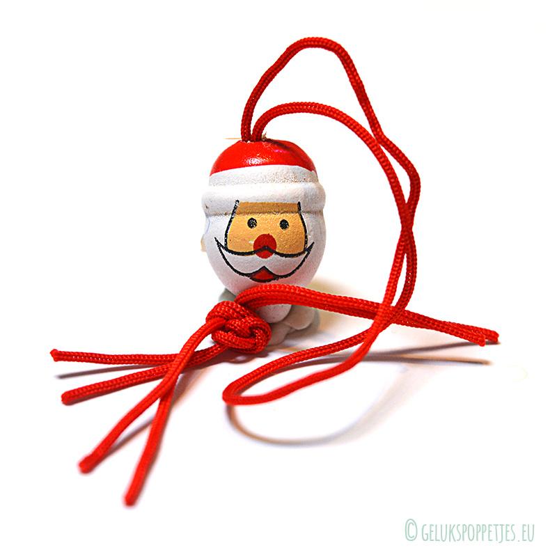 Gelukspoppetje kerstmanhoofd