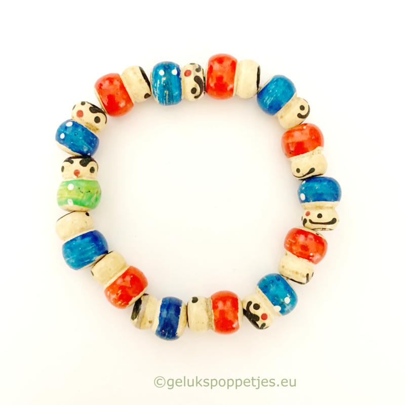 Gelukspoppetjes armband