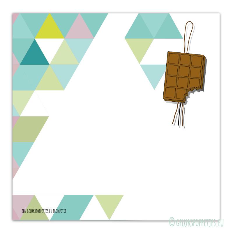 Chocolade gelukspoppetjes blokje