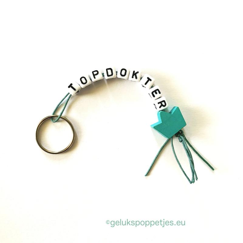 """""""Topdokter"""" gelukspoppetjes sleutelhanger"""