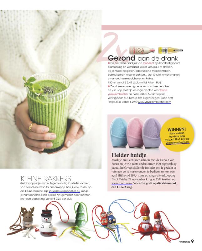 Gelukspoppetjes in tijdschrift De Vriendin