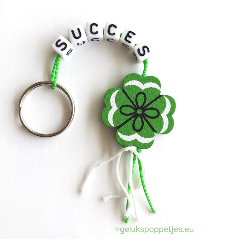 Succes gelukspoppetjes sleutelhanger