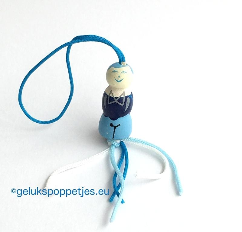 Delfts blauw geluks mannetje