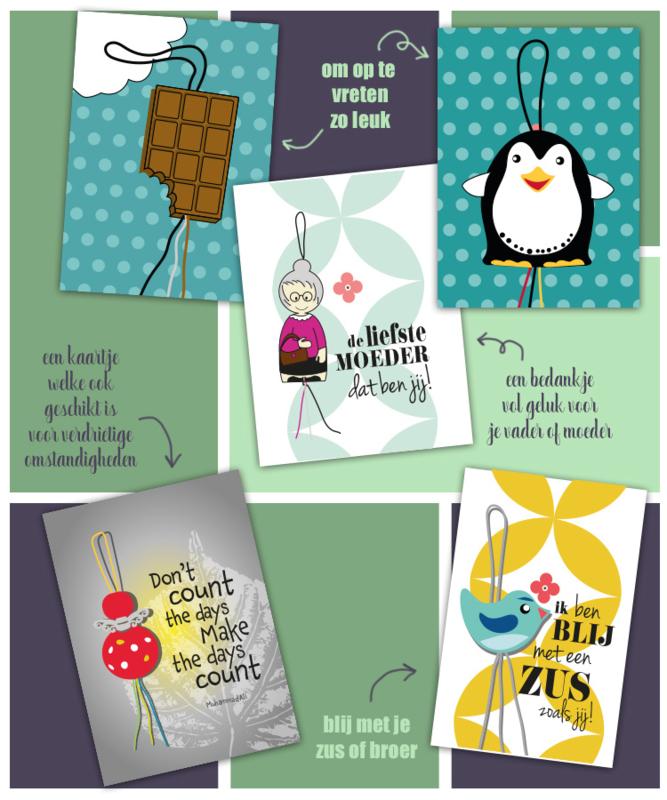Nieuwe serie gelukspoppetjes kaartjes