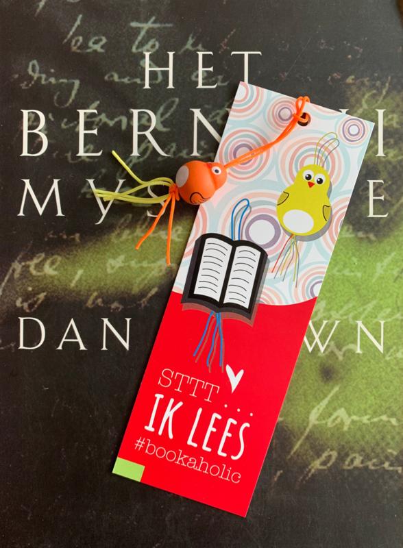 Sttt.... ik lees boekenlegger met gelukspoppetje