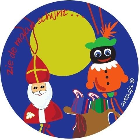 Gratis 50 Sinterklaas gelukspoppetjes stickers