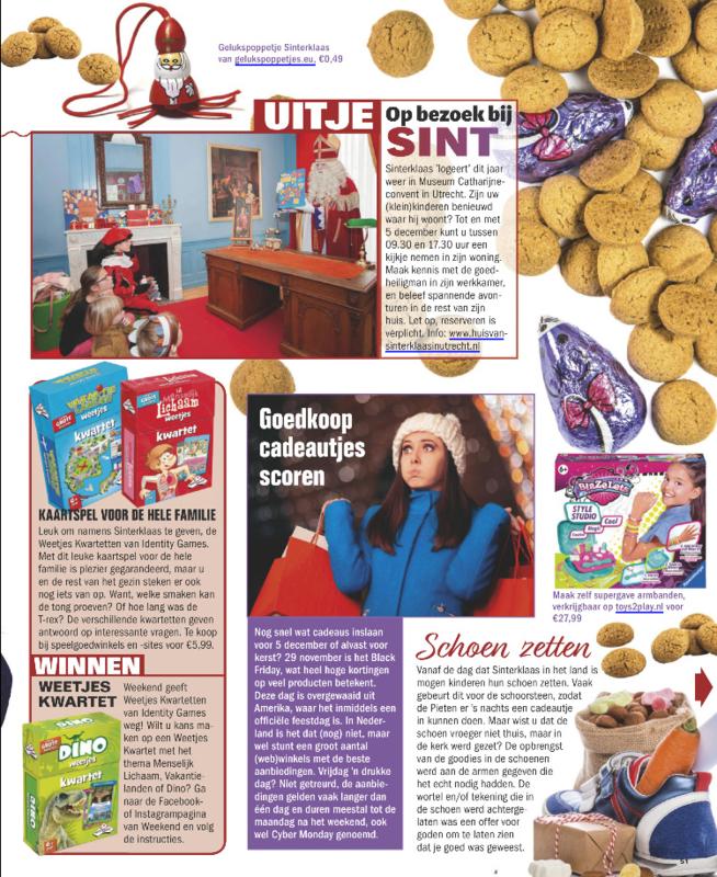 Gelukspoppetjes in tijdschrift de Weekend