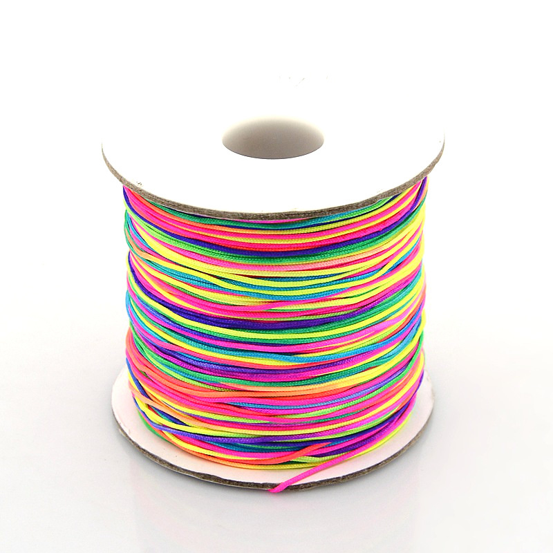 Gekleurd nylondraad op rol