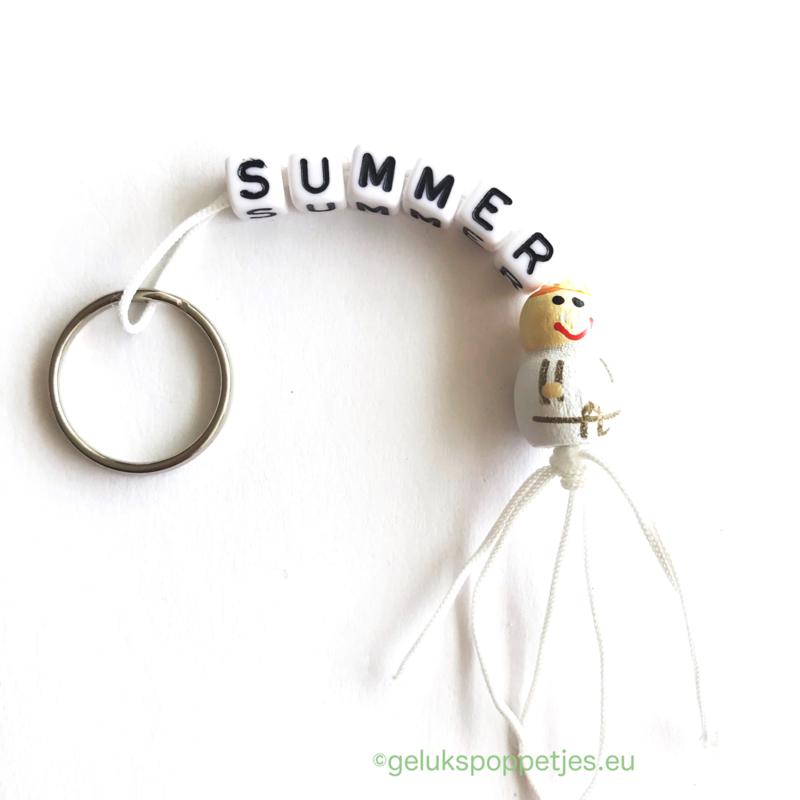 Summer geluksengeltje sleutelhanger