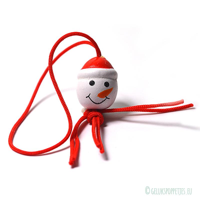 Sneeuwpop hoofdje gelukspoppetje