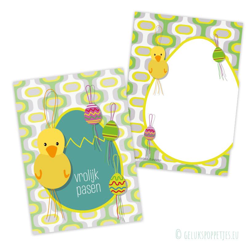Vrolijk Pasen gelukskaartje