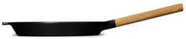 Morsø geëmailleerde gietijzeren bakpan met eikenhouten steel |  ø28 x 4 cm