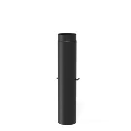 100 cm pijp met klep  | Ø150 mm | Zwart | BAS4.150