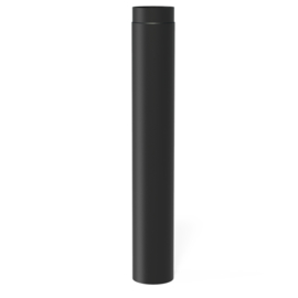 100 cm pijp | Ø150 mm | Zwart | BAS5.150