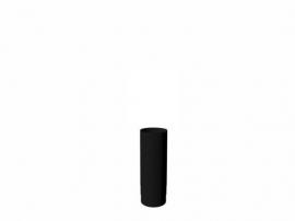 Ø 150 Dikwandige 2 mm buis 50 cm | Zwart