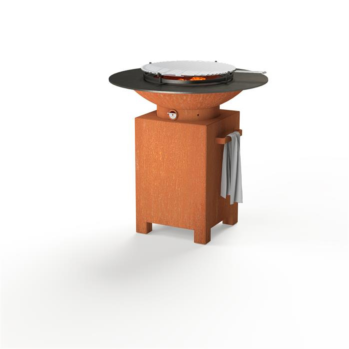 FORNO Ronde Barbecue met vierkant onderstel + Grill | BFC3
