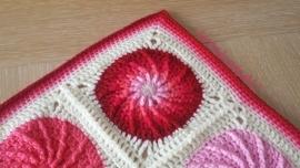 haakpatroon kolkende cirkels deken