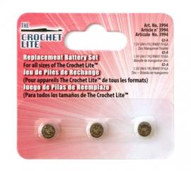 Batterijen voor Crochet Lite haaknaalden