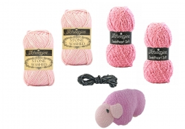 Haakpakket Joekedoe schaap (roze)