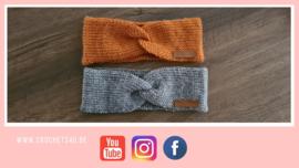 Gratis haakpatroon: tunisch haken: hoofdband in tricotsteek of breisteek