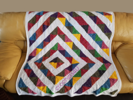 Haakpatroon diamant quilt