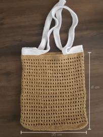 Gehaakte strandtas / boodschappentas in jute