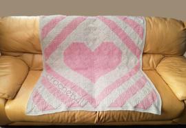 Haakpatroon hart quilt