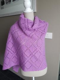 Gehaakte sjaal Cortona (geometrische motieven)
