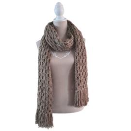 Gehaakte sjaal - granny strepen - Colour Crafter