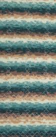 Gehaakte sjaal Siena (geometrische motieven)