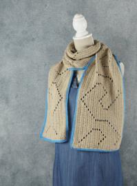 Gehaakte sjaal Murano (geometrische motieven)