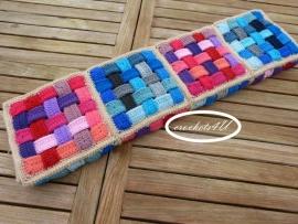 haakpatroon geweven/gehaakte deken