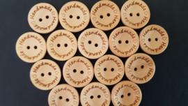 houten knopen 'Handmade'