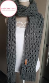 Gratis haakpatroon Granny strepen sjaal