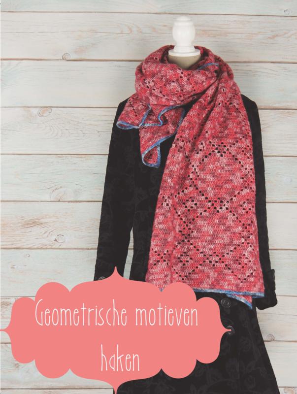 Gehaakte sjaal Firenze (geometrische motieven)